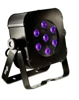 Flat spotlight with 7 x 8W RGBW (4 in 1) LEDs (ST-SLI FLATPAR2-1)