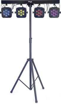 Flat Set 1 lighting set with 4 spotlights, 1 light stand and 1 foot co (ST-SLI FLATSET1-1)