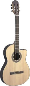 Sauza series 4/4 cutaway acoustic-electric classical guitar with solid (AN-SAU-TCFI S)