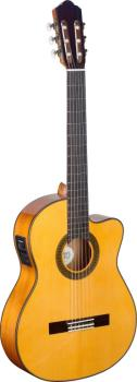 4/4 cutaway acoustic-electric flamenco classical guitar with solid spr (AN-CF1246CFI-S)