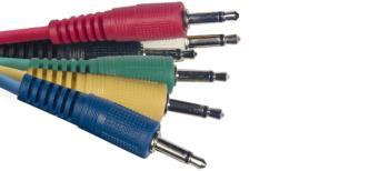 Mono patch cable, 6 x jack/jack (m/m), 60 cm (2'), moulded plastic (ST-SPC060 E)