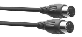 MIDI cable, DIN/DIN (m/m), 2 m (6'), plastic connectors (ST-SMD2 E)