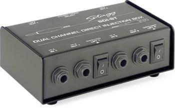 2-Channel, passive DI box with Mono/Stereo switch (ST-SDI-ST)