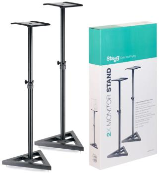 2 height adjustable studio monitor stands (ST-SMOS-10 SET)