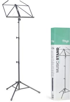 Lyra collapsible tubular music stand - 3 section (ST-MUS-A4 BK)