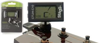 Auto-Chromatic clip-on Tuner with built-in Thermo & Hygrometers (ST-CTUH-C10)