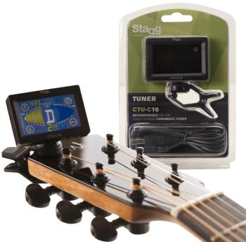 Rechargeable, Automatic Chromatic clip-on tuner with touch-screen disp (ST-CTU-C16)