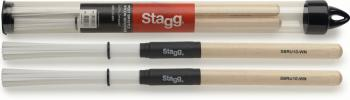 Polybristle nylon brushes with maple handle (ST-SBRU10-WN)
