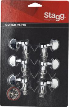 3L + 3R nickel individual machine heads for electric or folk guitars (ST-KG395CR)