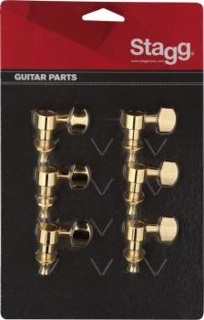 6 golden individual machine heads for electric or folk guitars (ST-KG673GD)