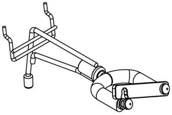 Swivel guitar holder for Slatwall and pegboard, short arm model (ST-DIS-GUH5)