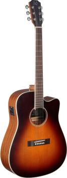 4/4 cutaway acoustic-electric dreadnought guitar with solid cedar top, (JN-EZR-DCFI)