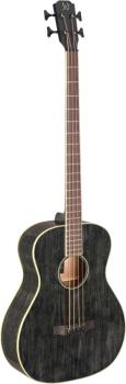 Acoustic-electric bass with solid mahogany top, Yakisugi series (JN-YAK-BAS-E)