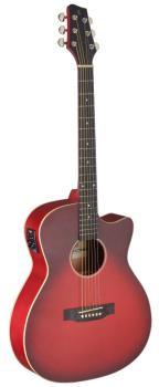 Cutaway acoustic-electric auditorium guitar, transparent red (ST-SA35 ACE-TR)