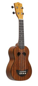 Tiki series soprano ukulele with sapele top, Eh finish, with black nyl (ST-US-TIKI EH)