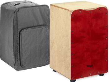 Standard-sized birch cajón with red front board finish (ST-CAJ-50M-RD)