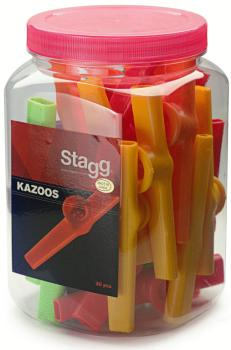 Box of 30 plastic kazoos of different colours (ST-KAZOO-30)