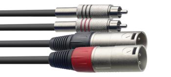 Twin cable, XLR/RCA (m/m), 1.5 m (5') (ST-STC1,5CMXM)