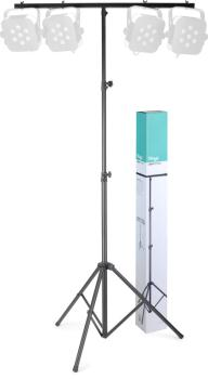 Height adjustable light stand with folding legs (ST-LIS-0822BK)