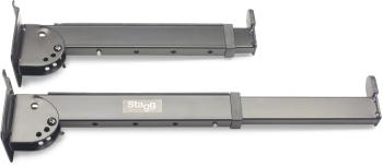 Telescopic keyboard display arms for slat wall mounting (ST-SLA-LAY3)