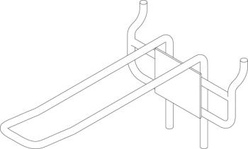 Double display hook for Euro-standard display panel - 1 pc (ST-DIS-EUH BK)