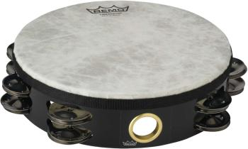 """08"""" Tambourine with 2 Rows of 8 jingles - Pretuned - High pitch (RE-TA-5208-70)"""