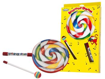 "1""x8"" Kids Lollipop Drum with fabric mallet (RE-ET-7108-00)"