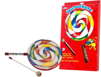 "1""x10"" Kids Lollipop Drum with fabric mallet (RE-ET-7110-00)"