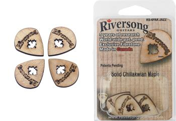 Pack of 4 Riversong Jazz 2 mm maple picks (RI-RS-4PAK JAZZ)