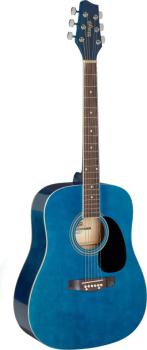 Blue dreadnought acoustic guitar with basswood top (ST-SA20D BLUE)