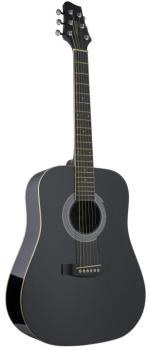 Acoustic Dreadnought Guitar with basswood top, 3/4 model (ST-SW201 3/4 BK)