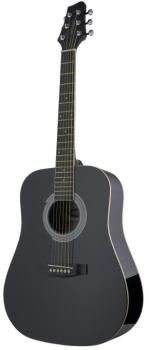 Acoustic Dreadnought Guitar with basswood top, 3/4 model, lefthanded (ST-SW201 3/4 LH BK)
