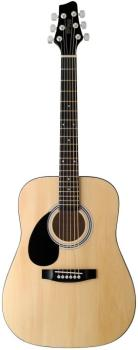 Acoustic Dreadnought Guitar with basswood top, 3/4 model, lefthanded (ST-SW201 3/4 LH N)