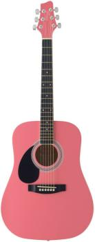Acoustic Dreadnought Guitar with basswood top, 3/4 model, lefthanded (ST-SW201 3/4 LH PK)