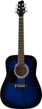 Acoustic Dreadnought Guitar with basswood top, 3/4 model, lefthanded (ST-SW201 3/4 LHBLS)