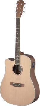 Asyla series 4/4 cutaway dreadnought acoustic-electric guitar, solid s (JA-ASY-DCE LH)