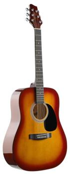 Acoustic Dreadnought Guitar with basswood top (ST-SW201CS)