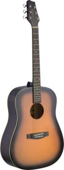 Dreadnought acoustic guitar with Linden top (ST-SA30D-BS)