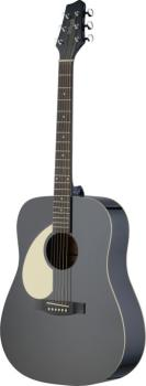 Dreadnought acoustic guitar with Linden top, lefthanded model (ST-SA30D-BK LH)