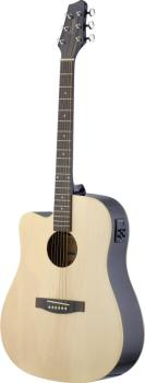 Electro-acoustic Dreadnought guitar with Linden top & CL-4 B-Band (ST-SA30DCE-N LH)