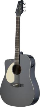 Electro-acoustic Dreadnought guitar with Linden top & CL-4 B-Band (ST-SA30DCE-BK LH)