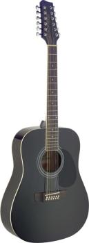 Dreadnought acoustic guitar with Spruce top (ST-SA40D/12-BK)
