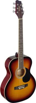 4/4 sunburst auditorium acoustic guitar with linden top (ST-SA20A SNB)