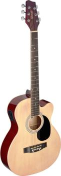 Auditorium cutaway acoustic-electric guitar with basswood top (ST-SA20ACE NAT)