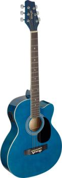Blue auditorium cutaway acoustic-electric guitar with basswood top (ST-SA20ACE BLUE)