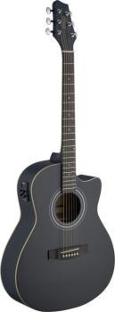 Electro-acoustic Auditorium guitar cutaway with Linden top & (ST-SA30ACE-BK)