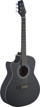 Electro-acoustic Auditorium guitar cutaway with Linden top & (ST-SA30ACE-BK LH)