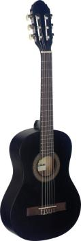 1/2 black classical guitar with linden top (ST-C410 M BLK)
