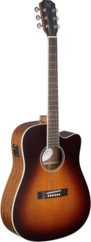 4/4 cutaway acoustic-electric dreadnought guitar with solid cedar top, (JA-EZR-DCFI)