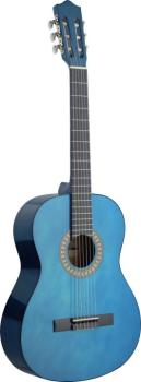 4/4 transparent blue classical guitar with basswood top (ST-C542 TB)
